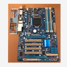 Рабочего H55 1156 материнская плата для Gigabyte GA-H55-UD3H LGA1156 DDR3 H55-UD3H доски 16 Гб блок питания ATX Поддержка X3440 I3 I5 I7