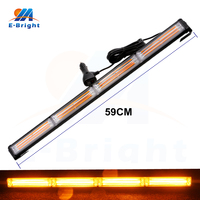 72W 480LM COB Amber Flash 13 Mode Daytime Running Light DRL LED 12V 24V Waterproof Auto Lighting LED Warning Light