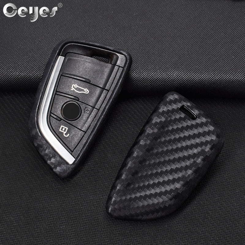 Ceyes Auto Key Shell Carbon Fiber Protection Covers Car Styling Case For Bmw New X1 X5 X6 5 Series 2014 2016 Holder Accessories in Key Case for Car from Automobiles Motorcycles