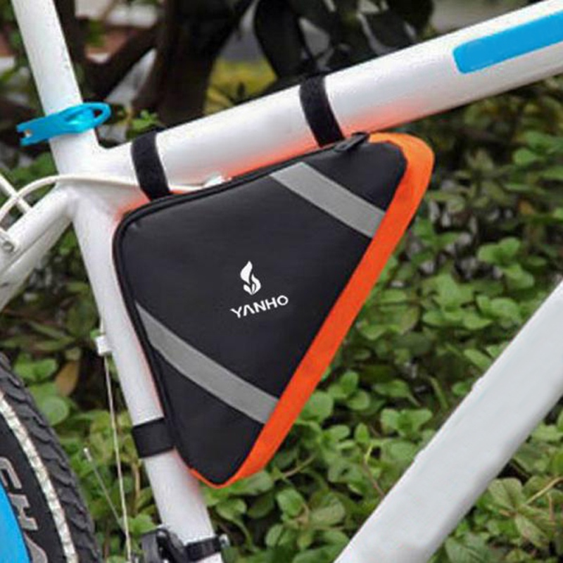 Reflective Bicycle Frame Tube Bag Bicycle Pannier Cycling Pack Bike ...