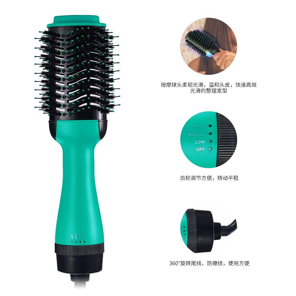 Hot TOD-One Step Hair Dryer and Volumizer, ManKami Salon Hot Air Paddle Styling Brush Negative Ion Generator Hair Straightener