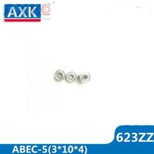 AXK 623ZZ Bearing ABEC-5 10PCS 3x10x4 mm Miniature 623-2Z Ball Bearings 623 ZZ EMQ Z3V3 Quality цена и фото
