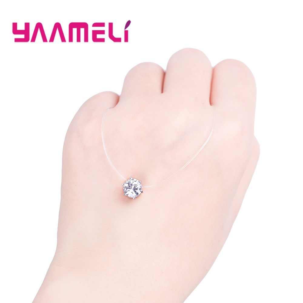 Super Shining 6 pazury cyrkonia 925 Sterling Silver kolorowe naszyjnik wisiorek dla kobiet panie kryształ biżuteria
