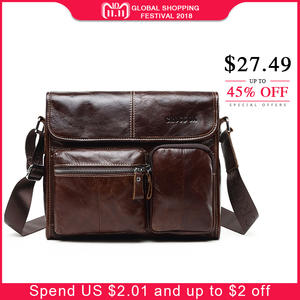 CROSS OX Wax Leather Messenger Bag Genuine Leather
