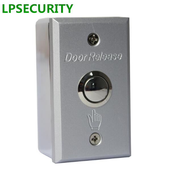 LPSECURITY surface mounting Door button with base Metal Exit switch button door release For electric Lock Access Control system lpsecurity stainless steel door access control led backlit led illuminated push button door lock release exit button switch