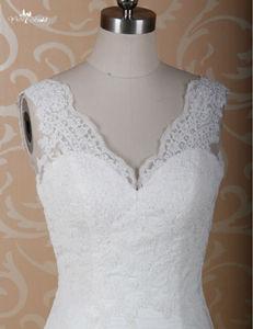 Image 4 - RSW771 Elegant Fitted Lace Sexy Mermaid Wedding Dresses Mermaid Cut