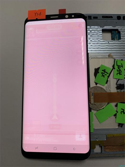 US $99 85  NO Y26 For Samsung Galaxy S8+ S8 Plus G955F G955A Burn in Shadow  Lcd Display With Touch Screen Digitizer Super AMOLED Screen-in Mobile