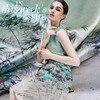 115 108cm Pcs Limited Bamboo Digital Painting Silk Natural Stretch Satin Fabric For Dress Tissu Au