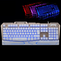 Usb السلكية الميكانيكية يشعر 104 مفاتيح شغال e-الرياضة لعبة الألعاب المفاتيح fahsion بارد 3 ألوان الخلفية لوحة معدنية keypad