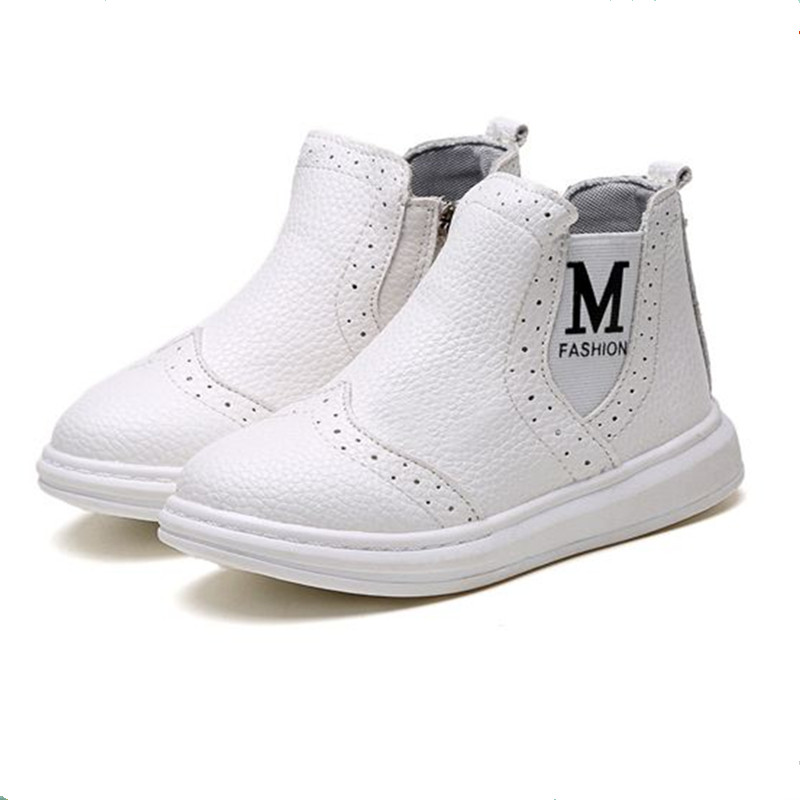 Child Casual Boots For Girls Glowing Sneaker Kids Baby Shoes Leather Fashion Spring Autumn Shoes Girls