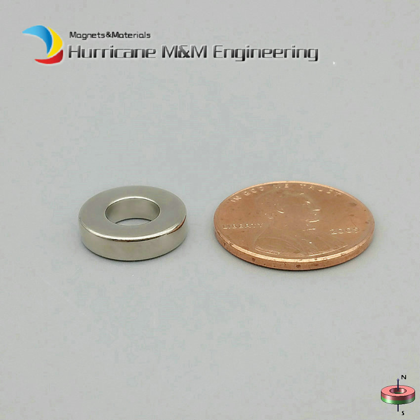 1 Pack NdFeB Magnet Ring 12.7x6.35x3.18 mm 1/2 odx1/4 id x1/8 thick Neodymium Permanent Rare Earth Magnets Grade N42 1 pack diametrically ndfeb magnet ring diameter 9 53x3 18x3 18 mm 3 8 1 8 1 8 tube magnetized neodymium permanent magnets