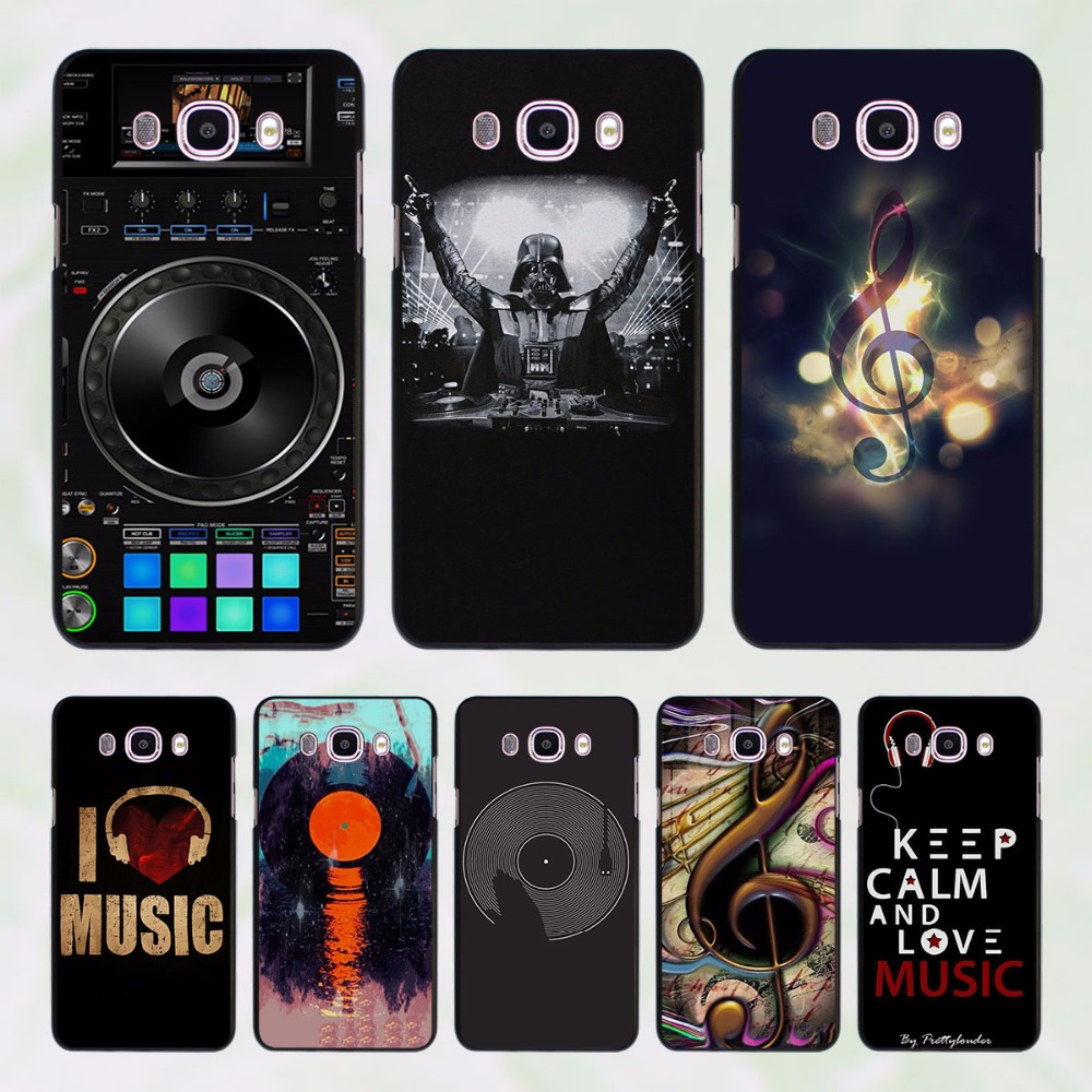 dj music bank design hard black Case for Samsung Galaxy J7 J5 2016 J7 Prime J510 J5 Prime J3 J2 2016 J1