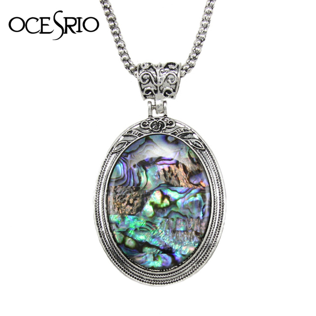 Ocesrio new fashion big pendant necklace shell bohemian necklace ocesrio new fashion big pendant necklace shell bohemian necklace indian jewelry women ladies sweater necklaces gift mozeypictures Choice Image