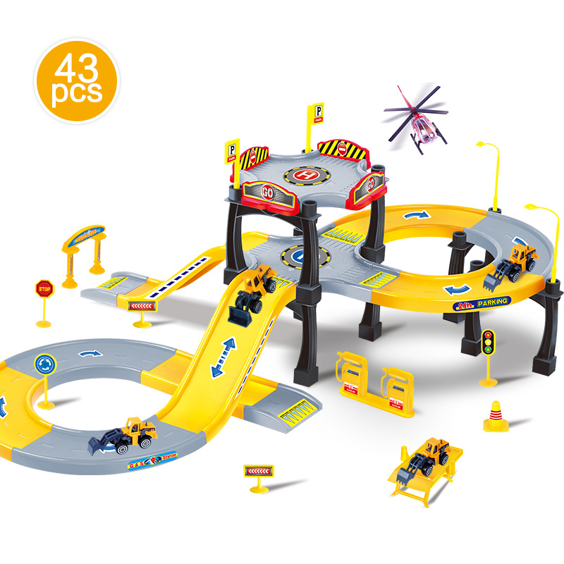 FARFEJI Children Tracks Toys Model Car Track Set Thomas Friends Trackmaster Tracks Model Toy Track Car Set For Children ...