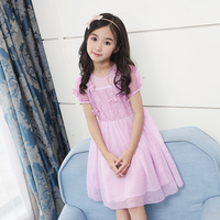 2018 New Designs Fashion Lacy Dress For Children Vintage Festa Dress For Girl Verano Elbise Daughters Clothes 8 9 10 11 Year Old