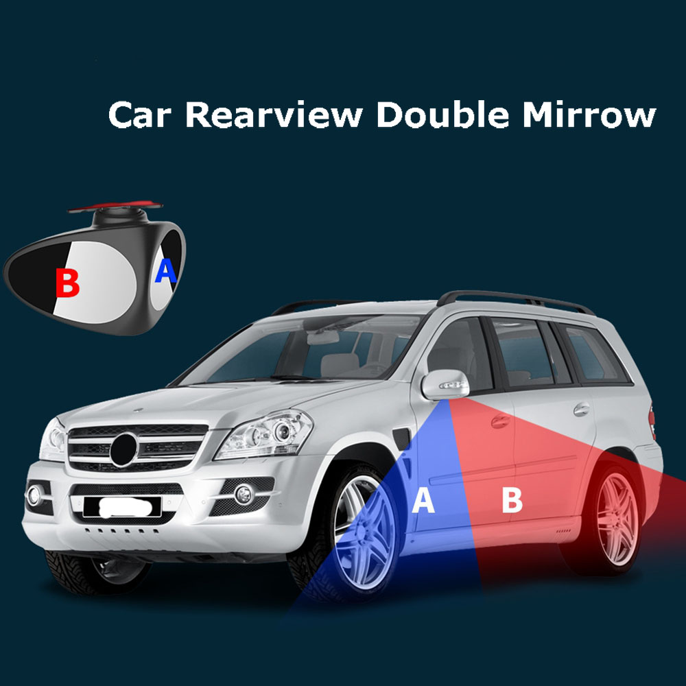 HTB1rup5XznuK1RkSmFPq6AuzFXaQ 1 Piece 360 Degree Rotatable 2 Side Car Blind Spot Convex Mirror Automibile Exterior Rear View Parking Mirror Safety Accessories