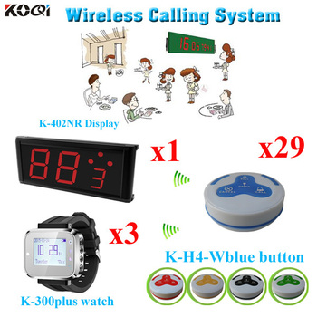 Paging Service System Number Display WIth Watch And Food Service Button Waiter ( 1 display + 3 watch + 29 call button)