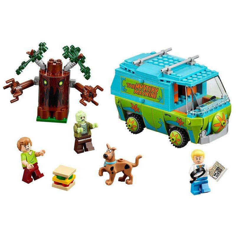 Original BELA 10430 Compatible Legoe Scooby Doo Minifigures Block The Mystery Machine 75902 Building Bricks Toys For Children скуби ду лего