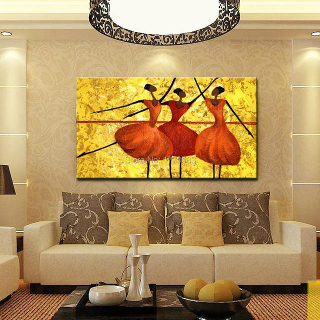hand made Royal Dancers oil painting on canvas Noble gloden ...