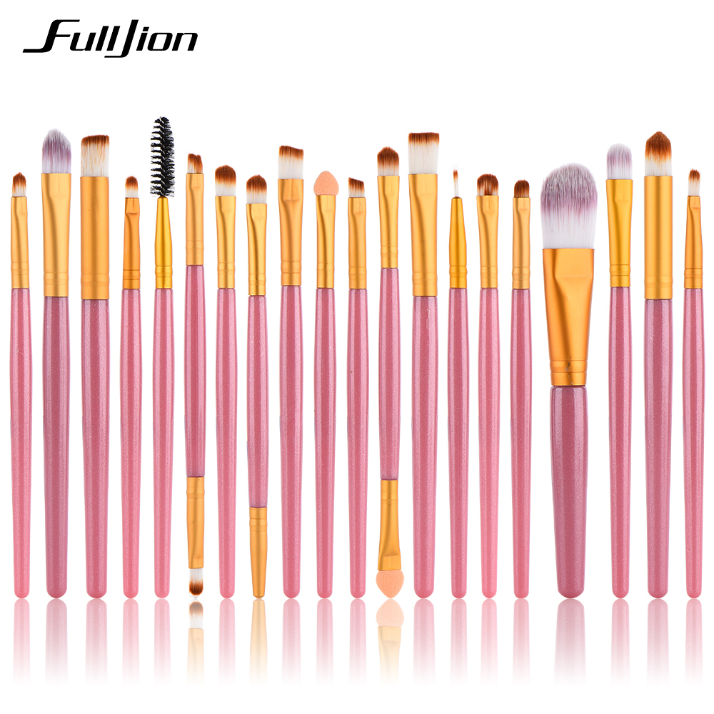 20Pcs Makeup Brushes Powder Foundation Eyeshadow Eyeliner Lip Makeup Set Makeup Eyeshadow Foundation Concealer Cosmetic Brushes