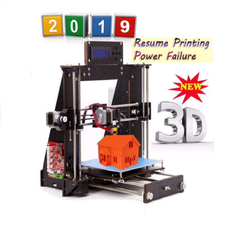 2019 zmodernizowane pełna 3D drukarki Prusa i3 Reprap MK8 DIY zestaw MK2A Heatbed LCD wznowić drukowanie drukarki 3d