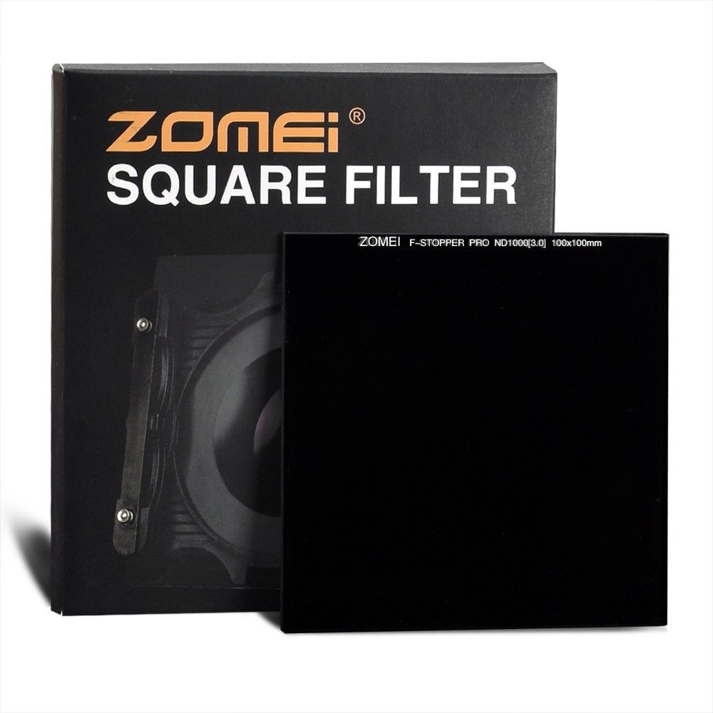 Zomei 100mm Optical Glass Square ND3.0 ND1000 1000x Neutral Density Grey Filter 10 Stops 100x100mm 4x4 zomei pro 100mm nd1000 nd3 0 square filter 100x100mm neutral density 10 stop optical glass full gray mc hd nd filter for cokin z