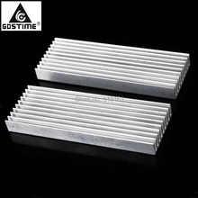 2PCS Gdstime 100x35x10mm Radiator Heatsink Aluminum Sink Cooling Cooler Fit Transistor IC Module цена