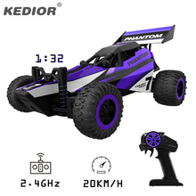 2017 New 1 32 RC Car Drift 2 4G 4CH Remote Controller Charge Car Radio Controlled