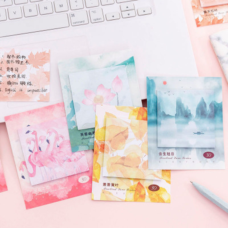 1pcs Flamingo Planner Stickers Cute Stationery Sticky Notes Novelty  Memo Pad Student Memo Sheets Kawaii School  Office Supplies