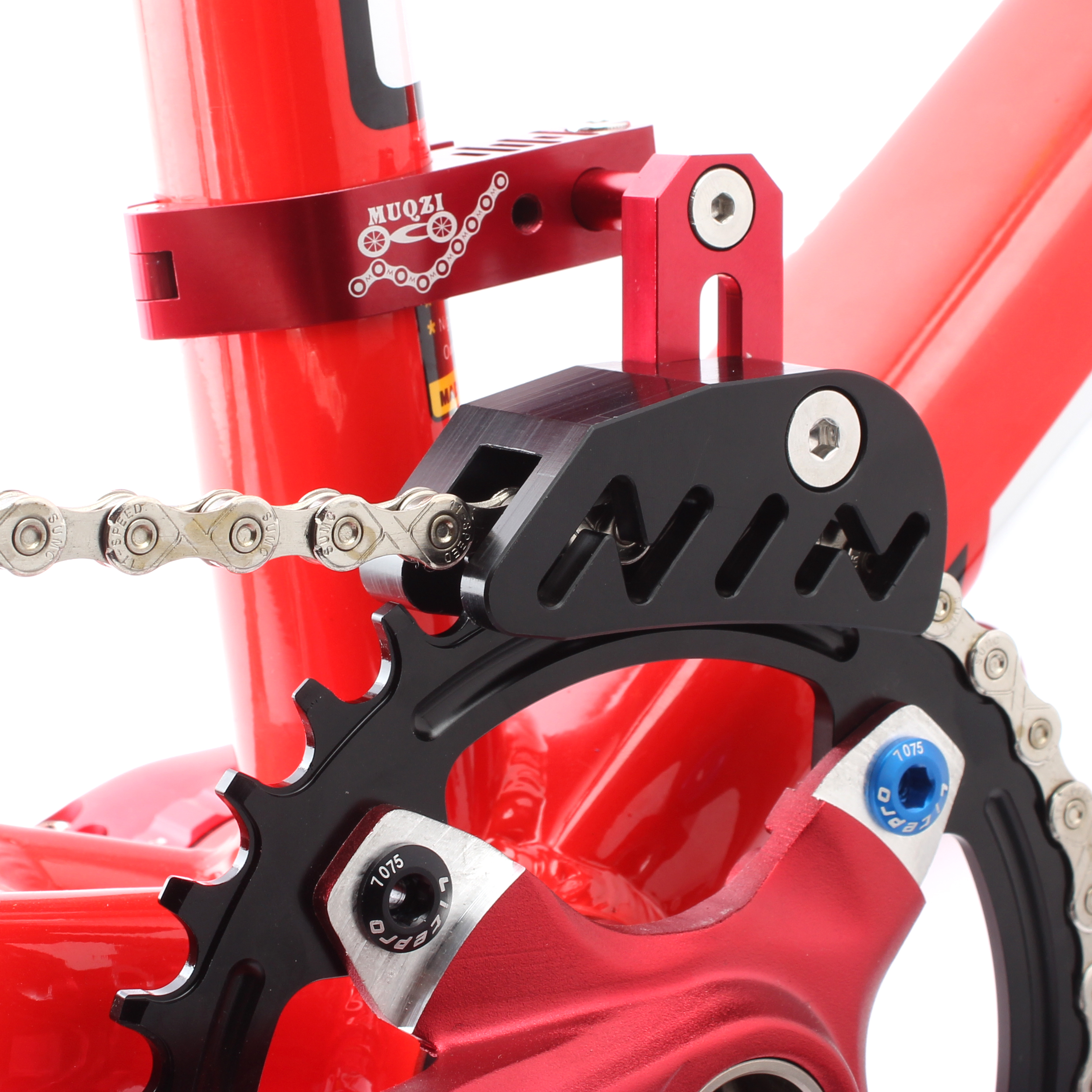 Stabilizer Bike Chain Guide Single seat Tube MTB Front Accessories Mount Bracket