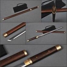 Afilada Espada del Ninja Japonés Clásico Kirihaddukuri Hoja Recta Espada 1060 Acero Al Carbono Espiga Completa No Hi Rosewood Ninja Cosplay