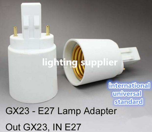 100pcs/lot 2 Pins GX23 To E27 Lamp Adapter GX23 To E26 Socket Converter Dropshipping
