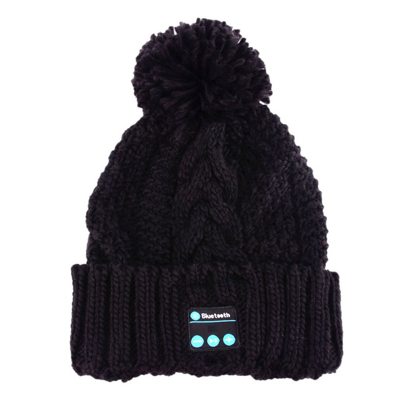 Soft Warm Beanies Winter Hats for Women Wireless Bluetooth Smart Caps Headphone Headset Speaker Mic