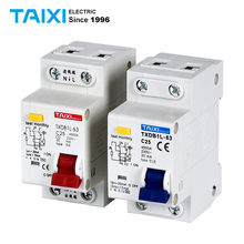 DPNL 1P+N RCBO C40A Residual Current Circuit Breaker WIth Overload protection 63A 32A 16A 36MM RCCB DZ267LE TXDB1L dmwd dpnl dz30le 32 1p n 25a 220v 230v 50hz 60hz residual current circuit breaker with over current and leakage protection rcbo