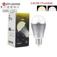 Toptan E27 9 W Sıcak/Soğuk Beyaz SKK LED Spotlight Ampuller, Mi-işık WiFi Dim ayarlanabilir Kablosuz lamba Akıllı telefon app