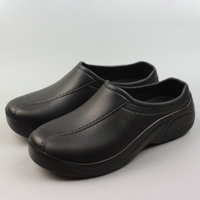cb70b9b3a المطبخ الطبية أحذية للنساء الأسود أو الأبيض المرأة أحذية العمل النفط واقية  للماء قباقيب حديقة صناديل