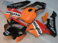 ABS plastic Injection fairing kit fit for Honda CBR600RR 2003 2004 CBR 600RR 03 04 aftermarket fairing kits orange black DV43