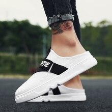 2018 New Arrival Canvas Shoes Loafers Men Sandals Men Fashion Summer Breathable Flats Slipper Cool Comfortable Slides Flip Flops