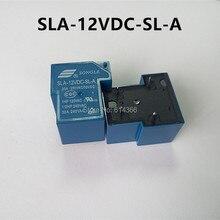 Новый оригинальный 10 ШТ. SLA-12VDC-SL-4-контактный 30A 250VAC T90 12 В РЕЛЕ
