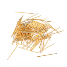 Spring Test Probe Phosphorus Copper Tube Gold Plated Electrical Instrument Tool for Testing Circuit Board Durable P038-B p048 j 100 pcs pack spring test probe phosphor bronze tube gold plated electrical instrument tool for testing circuit board