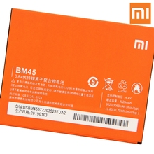 Xiao Mi Original BM45 Battery For Xiaomi redmi Note 2 note2 Redrice Note2 Genuine Replacement Phone 3060mAh