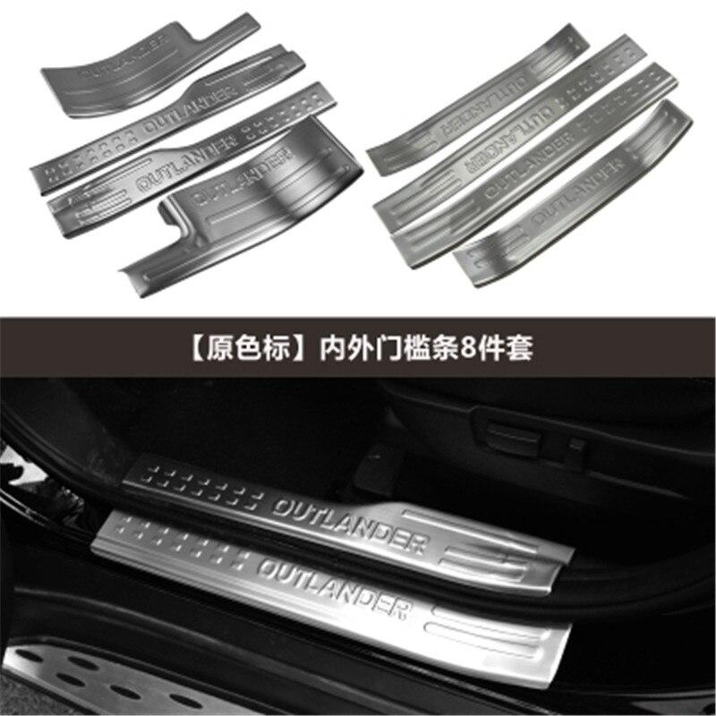 Style de voiture pour Mitsubishi Outlander Samurai 2013-2019 plaque de seuil/seuil de porte protecteur de pare-chocs arrière