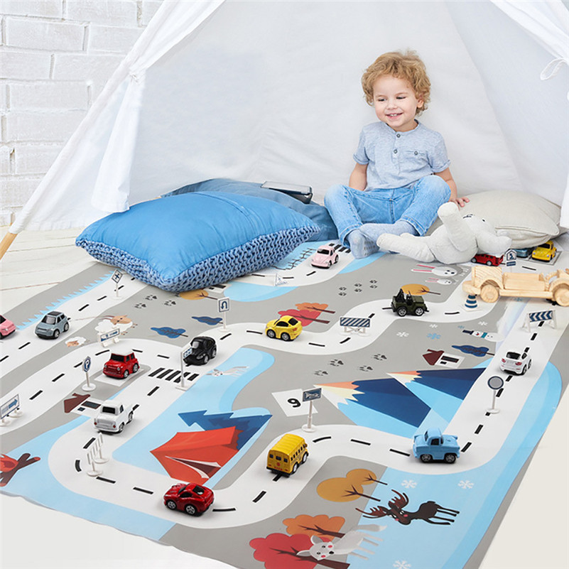 Kids Play Mat City Road Buildings Parking Map Game Scene Map Educational Toys Educational Toys Dropshipping Gifts E1