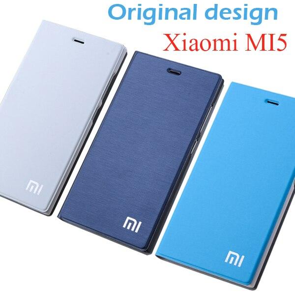 "Xiaomi Mi5 fall ursprüngliche größe xiaomi 5 fall flip cover M5 pu leder halter Mi 5 gold gitter luxus capa coque funda 5,15"""