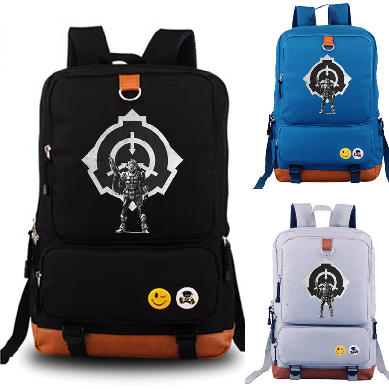 SCP Containment Breach school bag student school bag Notebook backpack Daily backpack