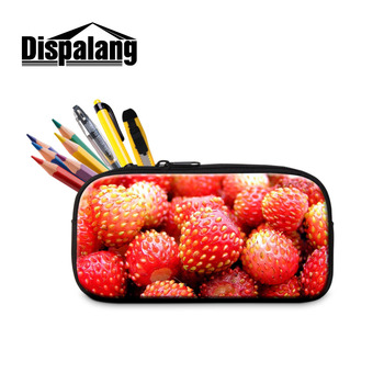 Dispalang Strawberry Makeup Bag Cosmetic Case Pencil Case Cute School Supplies Pencil Box Stationery Gift School Pencil Bag фото