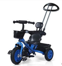 Hand push baby tricycle bicycle bicycle cart double pole 1-3-7 years old baby stroller