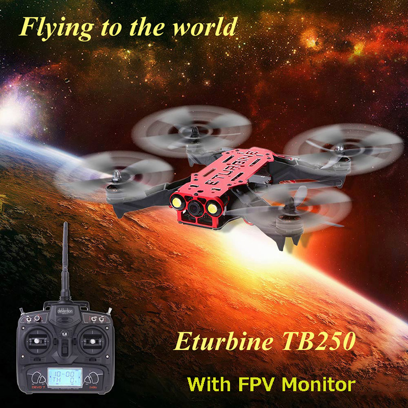 Eturbine TB250 TB250-3M 5.8 г реальном времени FPV дрон с дево 7 передатчик SONY 2MP 700 линия камера RTF