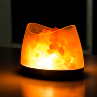 Coquimbo Himalayan Salt Lamp USB Charging Night Light 3 Modes Cylinder Natural Air Purifier Rock Night