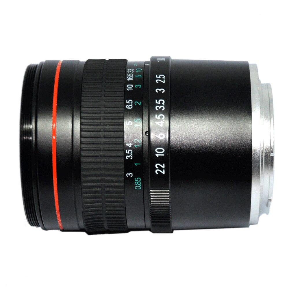JINTU 85mm F/1.8 téléobjectif Portrait Prime fixe plein cadre objectif pour Sony NEX3 NEX5 NEX6 NEX7 A5000 A6300 A6500 A7 A9 A7R caméra - 2